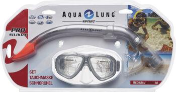 Aqua Sphere Java pro + togo snorkelsæt
