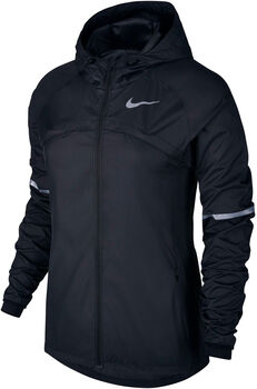 Nike Shield Hooded Running Jacket Damer Sort