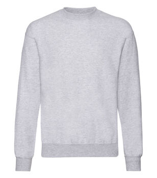 Fruit of the Loom Classic set in sweatshirt Herrer Grå