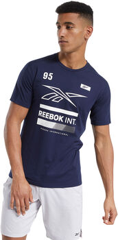 Reebok Speedwick Graphic Move Tshirt Herrer Blå