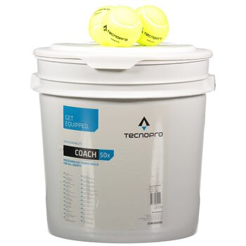 TECNOPRO Coach 50-Ball Bucket Hvid