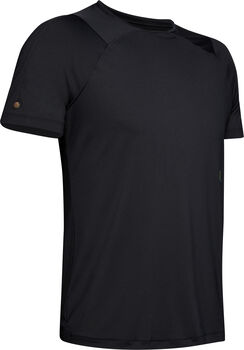 Under Armour RUSH Short Sleeve Herrer Sort