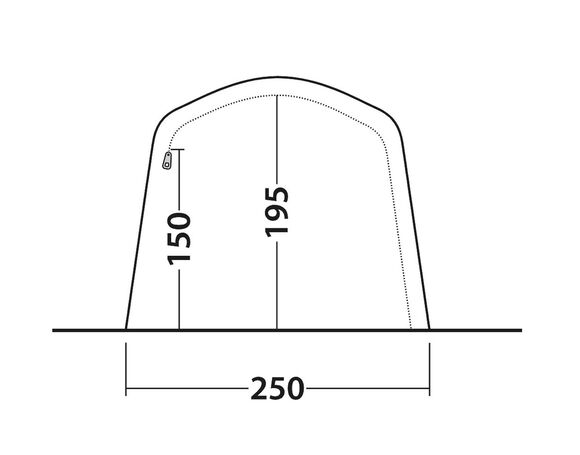 Lindale 3PA, lufttelt med to rum