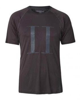Les Deux Athletics Run Logo T-Shirt Herrer Grå