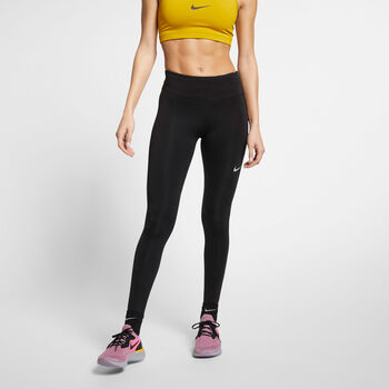 Nike Fast Tights Damer Sort