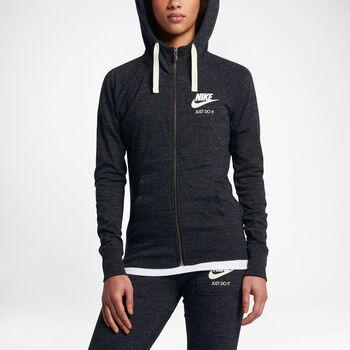 Nike Sportswear Gym Vintage Hoodie Fz Damer Sort