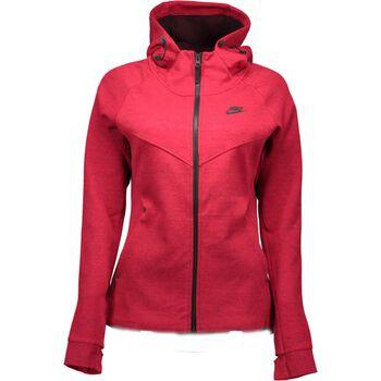 Nike Nsw Tech Fleece Hoodie Damer Rød