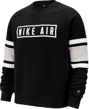 Nike Sportswear Air Fleece Crew Herrer Sort