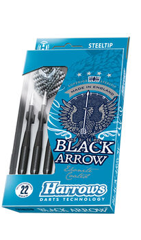 HARROWS Black Arrow Steeltop dartpile