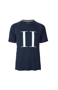 Les Deux Athletics Run Logo T-Shirt Herrer Blå