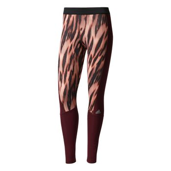 ADIDAS Techfit Long Tight Print Damer Multifarvet