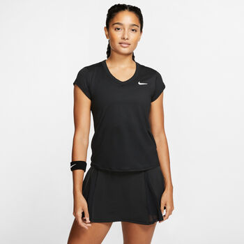 Nike Court Dri-FIT T-shirt Damer Sort