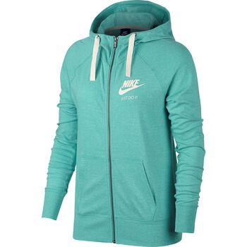 Nike NSW Gym Vintage Hoodie Fz Damer Rød