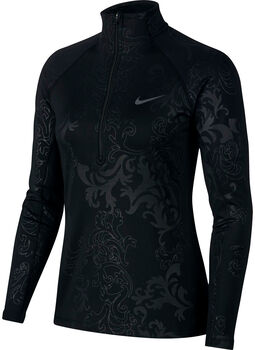 Nike Pro Warm Top LS HZ Royal Printed Damer