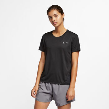 Nike Dri-FIT Miler SS Top Damer Sort