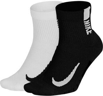 Nike Multiplier Running Ankelsokker, 2 par Multifarvet