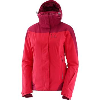 Salomon Icerocket Jacket Damer Rød
