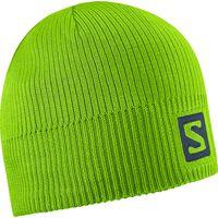 Salomon Logo Beanie Granny Green Osfa - Unisex