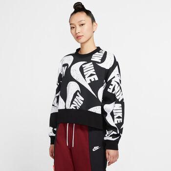 Nike Sportswear Fleece Trøje Damer Sort