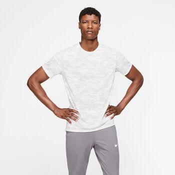 Nike  Rise 365Short-Sleeve Camo Running Top Herrer