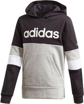 adidas Linear Colourblock Fleece Hættetrøje Drenge Grå