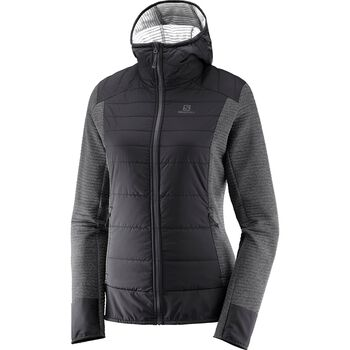 Salomon Right Nice Hybrid Hoodie Damer Sort