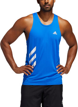 ADIDAS Own The Run 3-Stripes Tank top Herrer