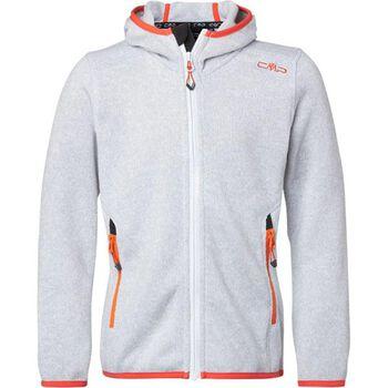 CMP Fleece Jacket Fix Hood Damer Hvid