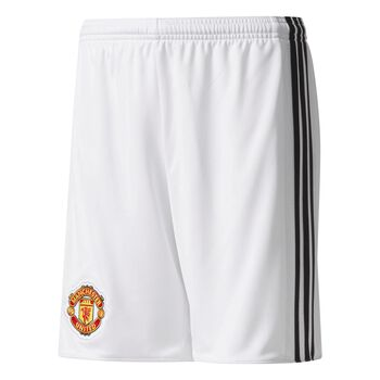ADIDAS Man Utd FC Home Shorts 17/18 Hvid