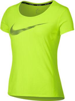 Nike Dry Contour Top SS Gpx Kvinder Gul